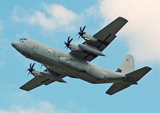 Italian Air Force - Italian Air Force Hercules C-130J-30 departs the 2014 Royal International Air Tattoo,  England