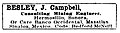 J. Campbell Besley, Mining Engineer, trade advertisement.jpg