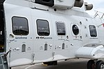JMSDF MCH-101(8657) cabin section left front view at Maizuru Air Station May 18, 2019 01.jpg
