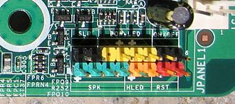 PC speaker - 4-pin speaker connector (marked SPK) on motherboard