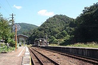 Bingo-Ochiai Station - Image: JRW bingo ochiai sta enclosure