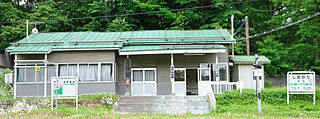 railway station in Wassamu, Kamikawa district, Hokkaidō, Japan