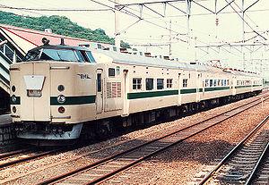 715 series - 715-0 series train at Hizen-Yamaguchi Station, 1987