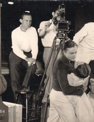 Jack Wagner (screenwriter) - Jack Wagner, left, on the set of The Sea Beast (1926) starring John Barrymore, foreground.