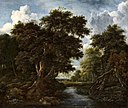 Jacob van Ruisdael - Wooded Landscape with Hunters and a River Lempertz-1097-2075 f38d830de4.jpg