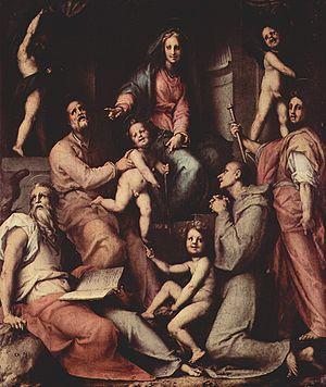 Madonna with Child and Saints (Pontormo) - Image: Jacopo Pontormo 066