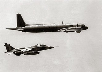 Royal Air Force of Oman - A Royal Air Force of Oman Jaguar intercepting an Il-38 in 1987