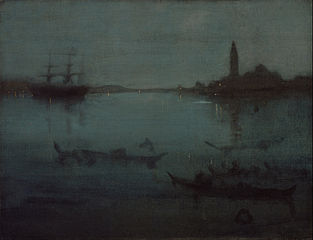 Nocturne in Blue and Silver: The Lagoon, Venice
