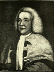 black and white portrait engraving of James Ferguson, Lord Pitfour. He is wearing legal robes and wig.