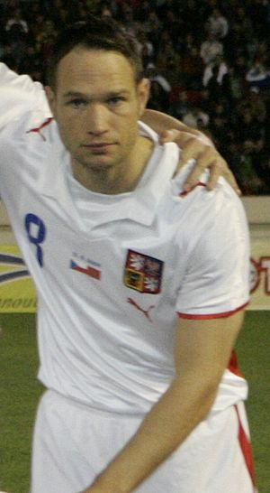 Jan Polák - Polák playing for the Czech national team