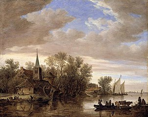 River Landscape with a Cattle-Ferry