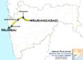 Janshatabdi Express (Mumbai - Aurangabad) Route map.png