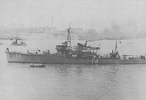 W-13-class minesweeper - Image: Japanese minesweeper MSC18
