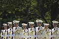 Japanese soldiers stand at attention for an honors ceremony for U.S. Secretary of Defense Chuck Hagel, hosted by Japanese Minister of Defense Itsunori Onodera in Tokyo Oct. 3, 2013 131003-D-BW835-166.jpg