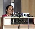 Jayanthi Natarajan addressing at the commemorative review of the Phase-IV of the Monitoring of Tiger Reserves, on the occasion of Wildlife Week, in New Delhi on October 05, 2012.jpg