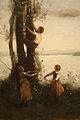 Jean-Baptiste-Camille Corot - The Little Bird Nesters (1873-1874) detail 01.jpg