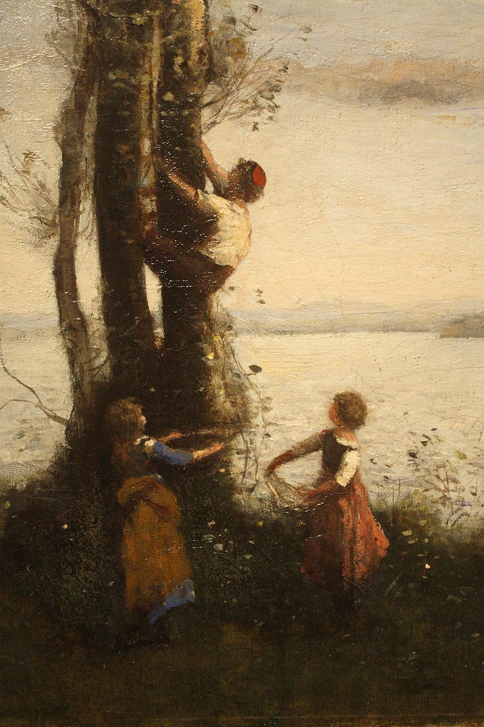 Jean-Baptiste-Camille Corot - The Little Bird Nesters (1873-1874) detail 01