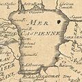 Jean-Baptiste Nolin. Carte du Capchac, partie du royaume de Gete, de la Transoxiane, de la Moscovie Géorgie. (17th century). C.jpg
