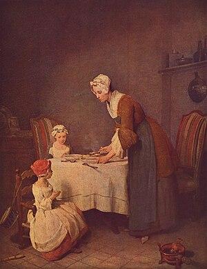 Le Bénédicité - Image: Jean Baptiste Siméon Chardin 003