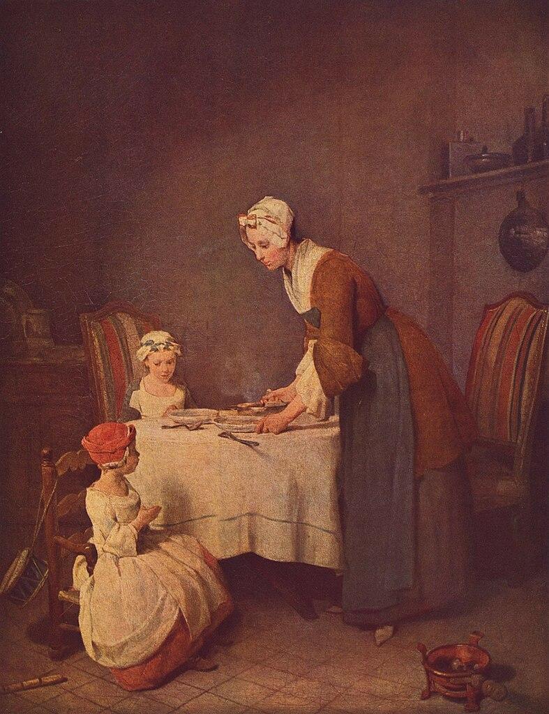 La Bendición Jean Baptiste Siméon Chardin 1740
