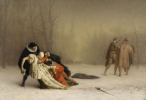 The Duel After the Masquerade - Image: Jean Léon Gérôme The Duel After the Masquerade Walters 3751
