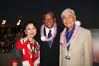 George Ariyoshi - Ariyoshi with Hawaii County Mayor Billy Kenoi and former first lady Jean Ariyoshi in 2011