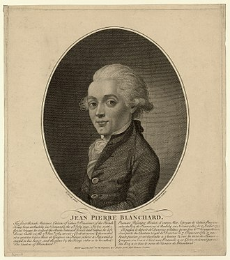 Jean-Pierre Blanchard - Jean-Pierre Blanchard, engraving after a portrait by Richard Livesay