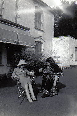 Jean rhys (left, in hat) with mollie stoner, velthams, 1970s b