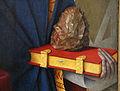 Jean fouquet, etienne chevalier con santo stefano, 1454-56 ca. 07 pietra e libro.JPG