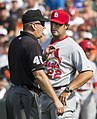Jeff Nelson and Mike Matheny in 2014 (14695393227).jpg