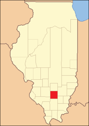 Jefferson County, Illinois - Image: Jefferson County Illinois 1823