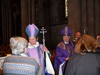 Cathedral of All Saints (Albany, New York) - Presiding Bishop Katharine Jefferts Schori and Bishop Bill Love of Albany at the Cathedral of All Saints in 2011.