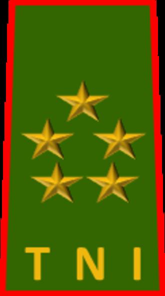 Five-star rank - Image: Jenderal besar pdh ad