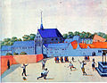Jeu de tamis at Beaumont abbey, Belgium, 1598.jpg