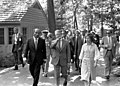 Jimmy Carter, Rosalynn Carter, Anwar Sadat walking at Camp David, September 5, 1978 (10729502446).jpg