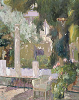 Joaquín Sorolla y Bastida - The Gardens at the Sorolla Family House - Google Art Project.jpg