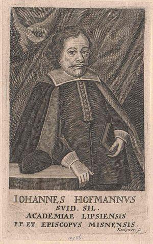 Johannes Hoffmann von Schweidnitz - Johannes Hoffmann v Schweidnitz, later Johann IV, Bishop of Meissen