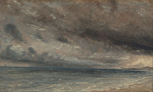 John Constable - Stormy Sea, Brighton - Google Art Project