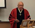 John Curtis Perry imparting his last lecture of his maritime history course (2014).JPG