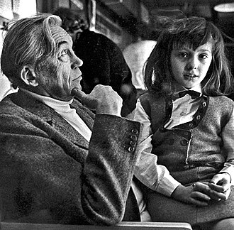 Anjelica Huston - with father John Huston, circa 1960