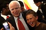 John McCain with supporter (8492356941).jpg