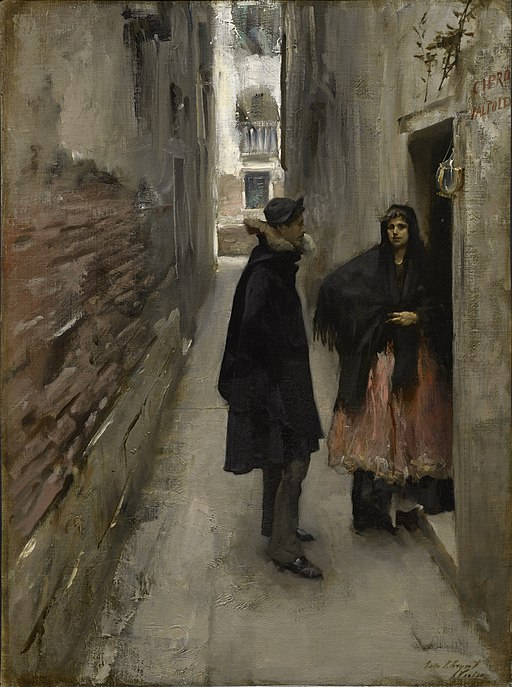 John Singer Sargent A Street in Venice