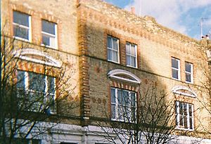 Brickwork - Polychromatic and indented brickwork in a Mid Victorian terrace in West London