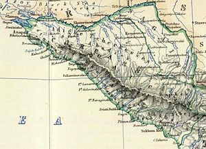 Circassian nationalism - Map of Circassia, 1861