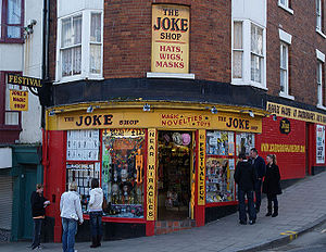 learn English: Joke shop