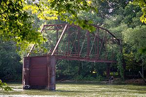 Peachtree Corners, Georgia -  The now-defunct Jones Bridge (1904) once connected Pinckneyville to Alpharetta.