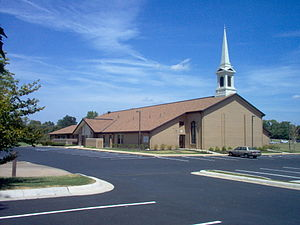 Worship services of The Church of Jesus Christ of Latter-day Saints - LDS meetinghouse in Jonesboro, Arkansas, USA