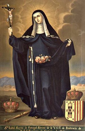 Elizabeth of Aragon - Saint Elizabeth of Portugal. Portrait by José Gil de Castro, Museo Colonial de San Francisco (Santiago, Chile)