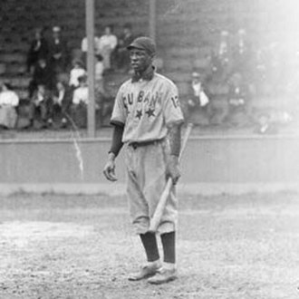 Uniform number (Major League Baseball) - José Méndez of the Cuban Stars, seen with a uniform number on his left sleeve (1909).