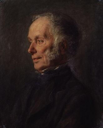 Joseph Bonomi the Younger - Portrait of Joseph Bonomi the Younger by Matilda Sharpe, 1868.